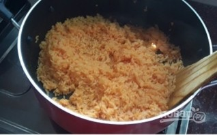 Рис с морковным соком - фото шаг 3