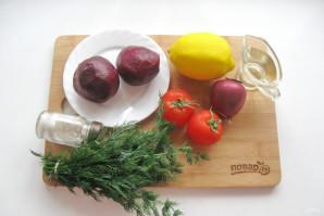 Салат из свеклы и помидоров - фото шаг 1