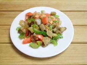 Салат из баклажанов и болгарского перца - фото шаг 6