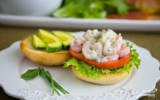Салат с креветками и огурцами - фото шаг 6