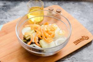 Салат с фунчозой и морской капустой - фото шаг 6