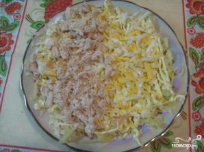 Салат из курицы с ананасом и огурцом - фото шаг 3