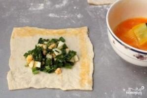 Пирожки с яйцом и зелёным луком - фото шаг 4
