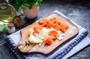 Чечевица с курицей и овощами - фото шаг 3
