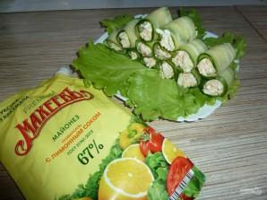 Лучший рецепт огуречных роллов с майонезом - фото шаг 2