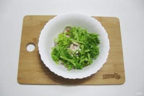 Постный салат с кальмарами - фото шаг 8