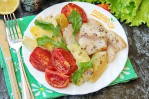 Рыба, запеченная с кабачками и картошкой в духовке - фото шаг 7
