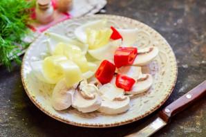 Шашлык с овощами в духовке - фото шаг 5