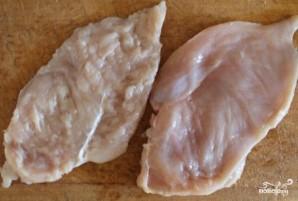 Куриные рулетики с грибами и сыром - фото шаг 1
