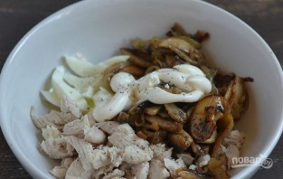 Салат из грибов шампиньонов - фото шаг 4