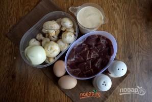 Пирог с печенью и грибами - фото шаг 3