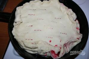 Пирог с вишней из слоеного дрожжевого теста - фото шаг 5