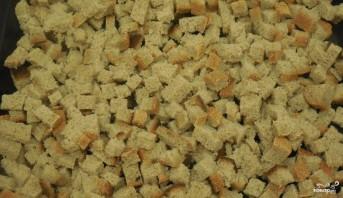 Сухарики из черного хлеба в духовке - фото шаг 2