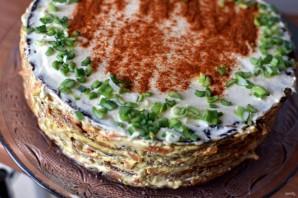 Печеночный торт с плавленым сыром - фото шаг 9