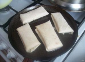 Конвертики из лаваша с ветчиной и сыром - фото шаг 5