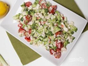 Овощной салат с крабовыми палочками - фото шаг 4