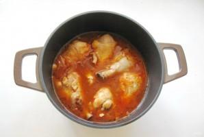 Куриные голени с баклажанами в соево-медовом соусе - фото шаг 5