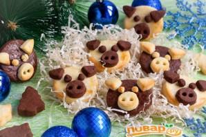 """Печенье """"Поросята"""" на Новый год - фото шаг 7"""