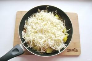 Капуста с грибами и картошкой - фото шаг 5