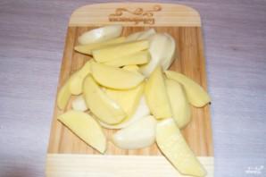 Филе индейки с картошкой в рукаве - фото шаг 3