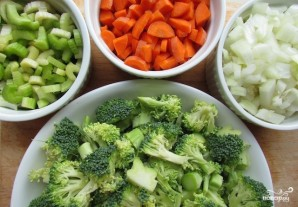 Вегетарианский суп-пюре из брокколи - фото шаг 1