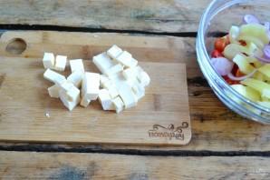 Греческий салат классический - фото шаг 6