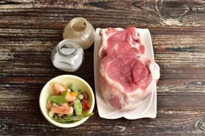 Рулет из свинины с овощами - фото шаг 1