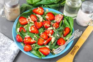 Клубничный салат с миндалем - фото шаг 8