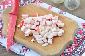 Крабовый салат с ананасом и рисом - фото шаг 3