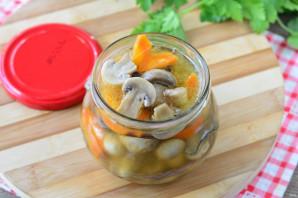 Маринованные грибы с морковью - фото шаг 8