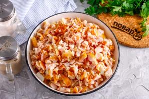 Салат с копченой курицей и рисом - фото шаг 4