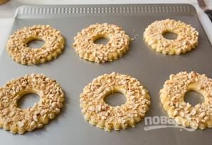 Песочные кольца с орехами - фото шаг 7