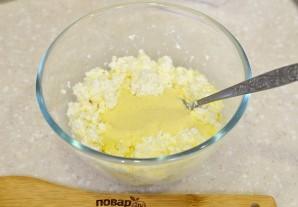 Сырники с курагой - фото шаг 3