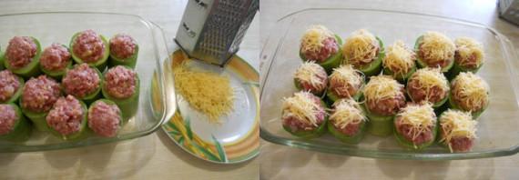 Фаршированные кабачки, запечённые в духовке - фото шаг 6