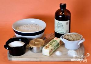 Печенье с арахисовым маслом и шоколадной начинкой - фото шаг 1