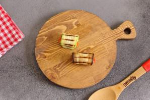 Рулетики из кабачков и баклажанов - фото шаг 6