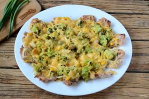 Пицца из куриного филе с сыром и брокколи - фото шаг 8