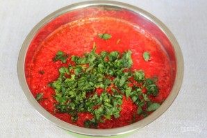 Аджика на основе красного перца, мороженная на зиму - фото шаг 4