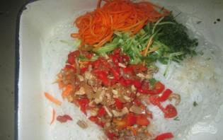Салат с фунчозой и корейской морковью - фото шаг 4