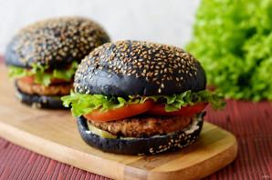 Черный бургер - фото шаг 13