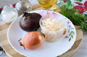 Салат из свеклы и квашеной капусты - фото шаг 1