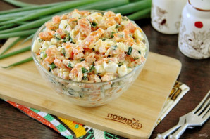 Салат из моркови с зеленым луком - фото шаг 7
