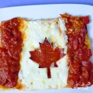 Пицца в виде флагов - фото шаг 5