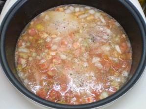 Курица с рисом и овощами в мультиварке - фото шаг 6