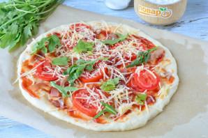 Пицца с прошутто и рукколой - фото шаг 10