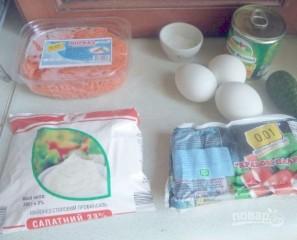 Салат с крабовыми палочками и морковью по-корейски - фото шаг 1