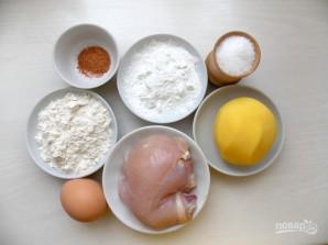 Куриное филе в картофельной шубке - фото шаг 1