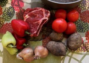 Рагу из говядины с картофелем   - фото шаг 1