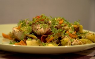 Кабачки с картошкой тушеные - фото шаг 8