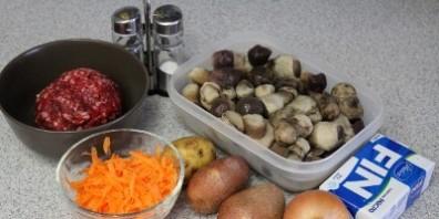 Суп грибной с фрикадельками - фото шаг 1